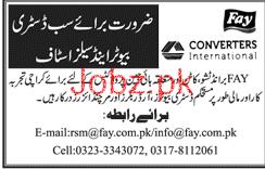 Distributors and Sales Staff Job in Fay Converters Internati