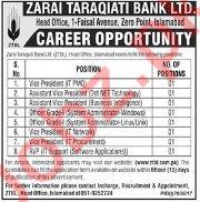 Zarai Taraqiati Bank Ltd ZTBL Jobs