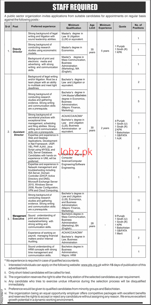Public Sector Organization Deputy Director Jobs
