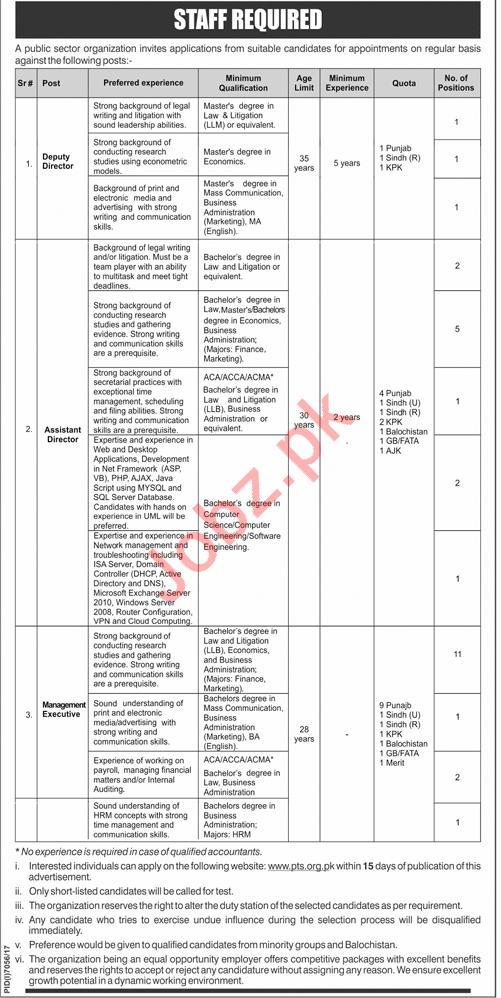 Deputy Director, Asst Director & Management Executive Jobs