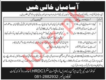 Computer Assistant & Librarian Jobs 2018 in Lahore