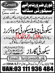 Security Guards, Security  Supervisors Job in Zenith