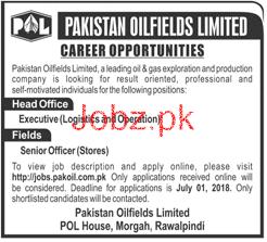 Pakistan Oilfields Ltd POL Executive Logistics Jobs