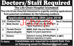 Male Doctors Job in The Life-Chain Hospital