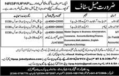 National Rural Support Programme NRSP Account Staff Jobs