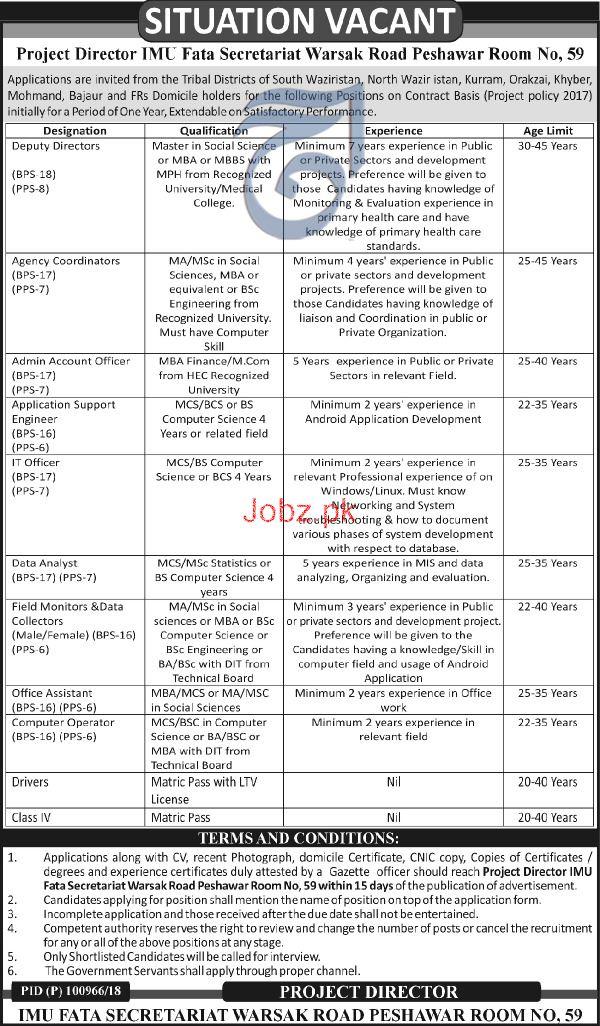 IMU FATA Secretariat Deputy Director Jobs