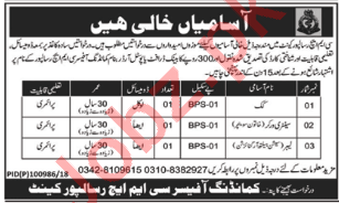 CMH Risalpur Cantt Jobs 2018 for Cook & Sanitary Worker