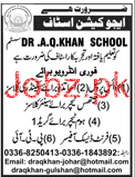 Doctor AQ Khan School System Teachers Jobs