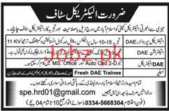 Diploma Holders Job in Electrical Company