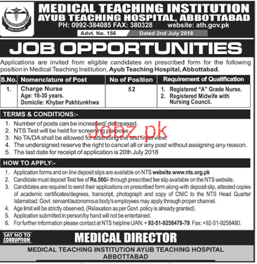 Medical Teaching Institution Ayub Teaching Hospital Jobs