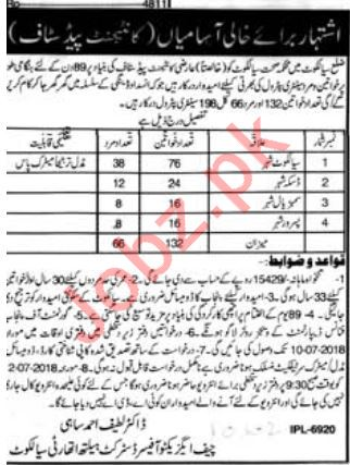Health Department Sialkot Jobs 2018 for Sanitary Workers