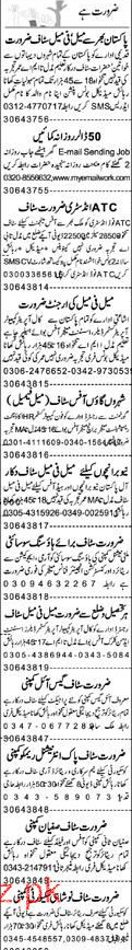 Data Entry Operators, Security Guards, Manager  Wanted