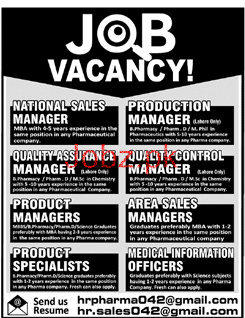 National Sales Manager, Production Manager Job Opportunity