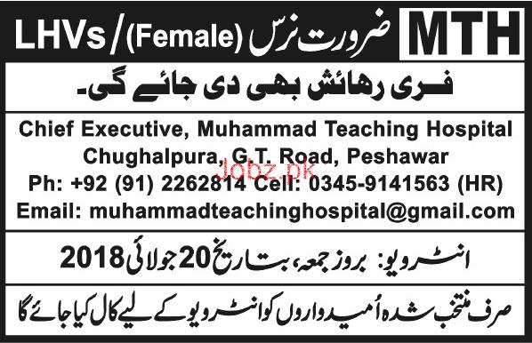 Female Nurses  Job in Muhammad Teaching Hospital