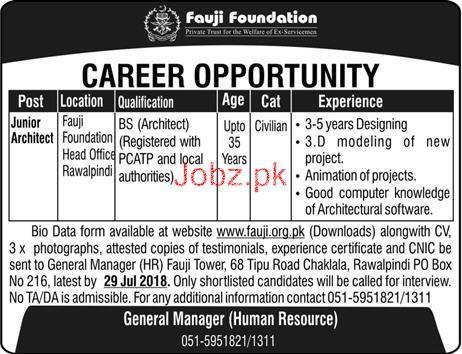 Fauji Foundation Head Office Rawalpindi Jobs