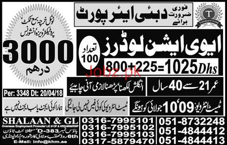 Aviation Loaders Job in Dubai Airport Dubai