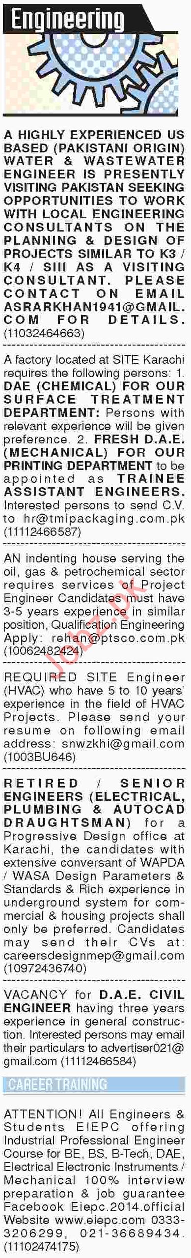 Civil Engineer, Mechanical Engineer & Engineers Jobs 2018