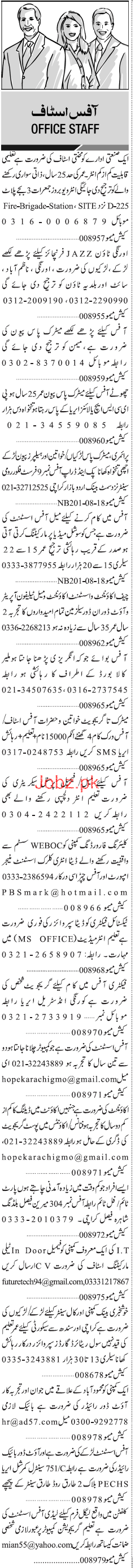 Chief Accountant, Office Assistants Job Opportunity