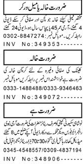 Female Workers, Security Guards Job Opportunity