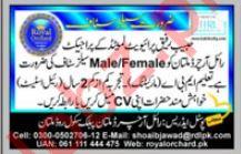 Royal Orchard Multan Public School Jobs 2018 for Sales Staff