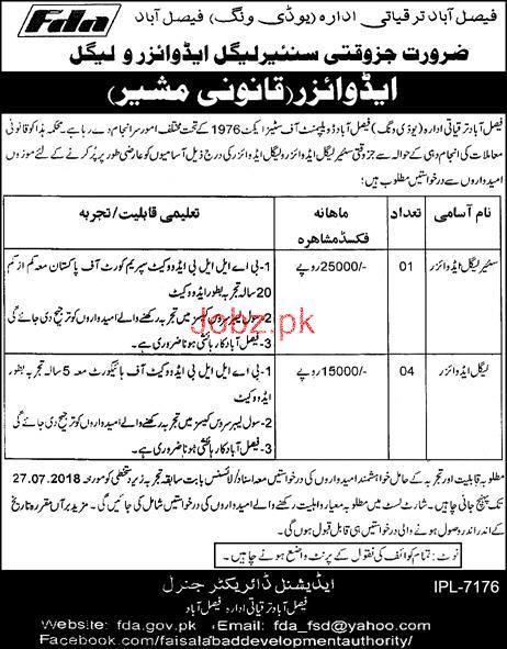 Faisalabad Development Authority FDA Jobs