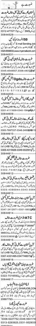 Data Entry Operators, Security Guards, Office Clerks  Wanted