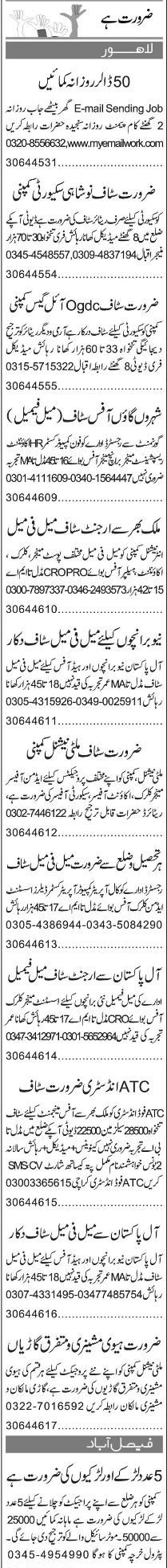 Receptionists, Data Entry Operators Job Opportunity