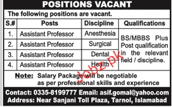 Assistant Professors Job Opportunity