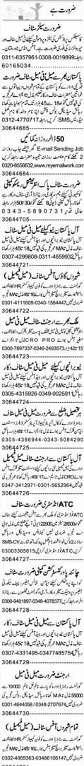 Phone Operators, Sales Promotion Officers Job Opportunity