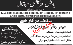 Hearts International Hospital General Nurses Jobs