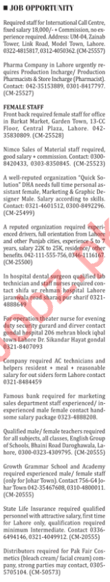 The Nation Newspaper Classified Jobs 2018 For Karachi