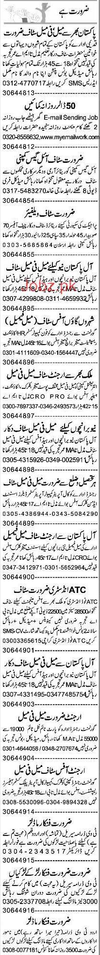 Data Entry Operators, Female Coordinators, Clerks  Wanted
