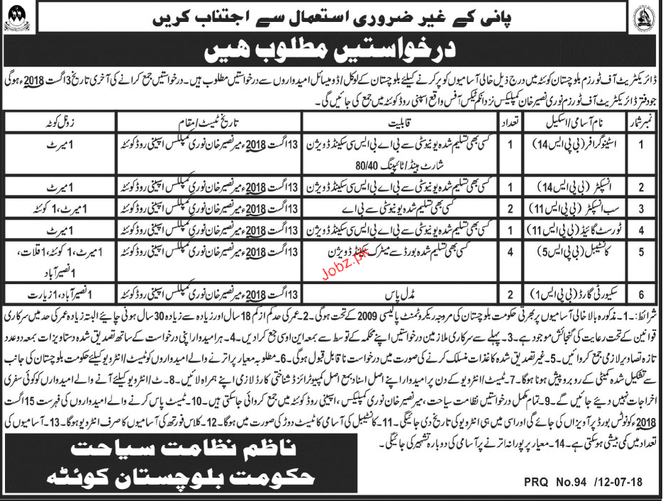 Directorate of Tourism Department Stenographers Jobs