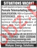 Female Telemarketing Officer Jobs 2018 in Lahore