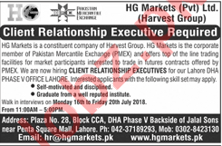 HG Markets Jobs 2018 for Client Relationship Executive