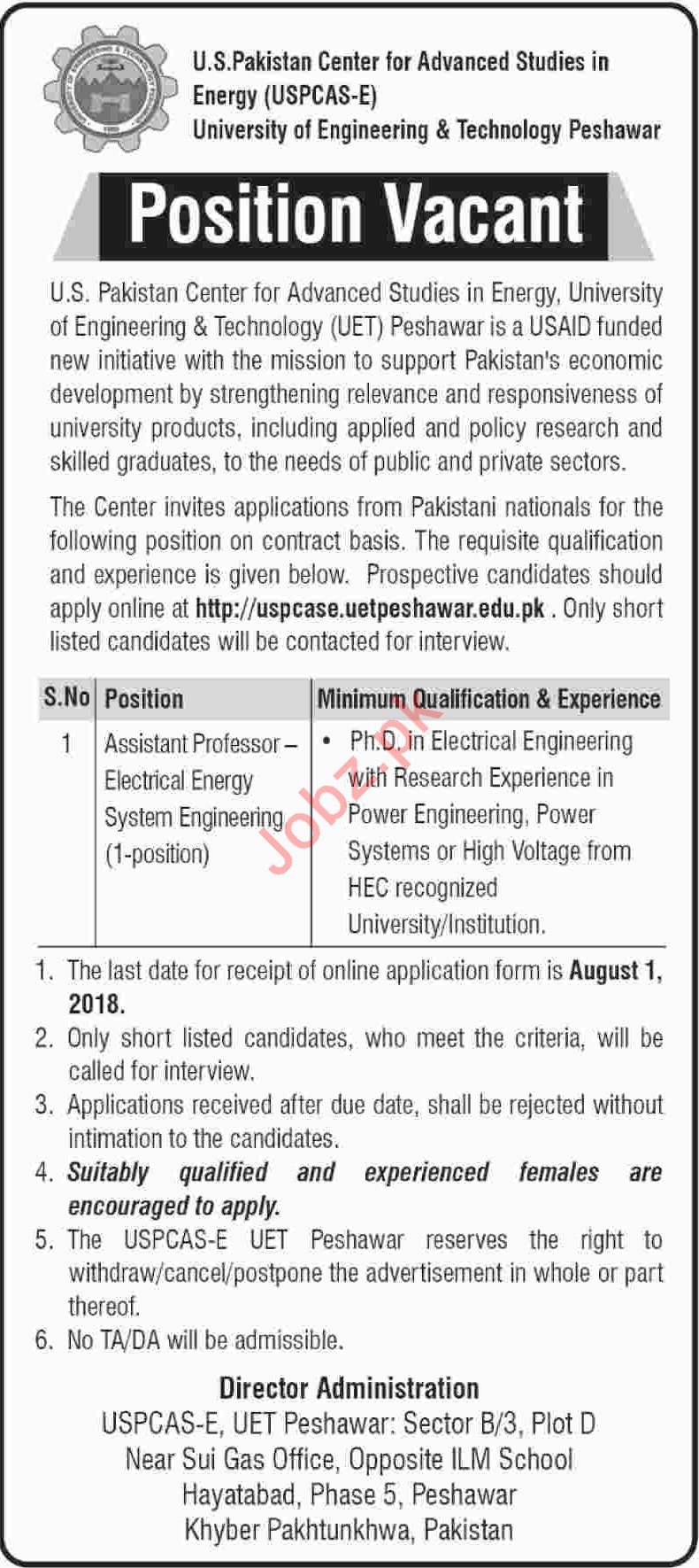 Asst Professor Electrical Energy System Engineering Jobs