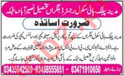 Madina Public High School Naseerabad AJK Jobs 2018