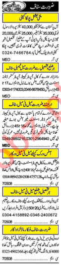 Daily Khabrain Newspaper Classified Ads 2018 In Lahore