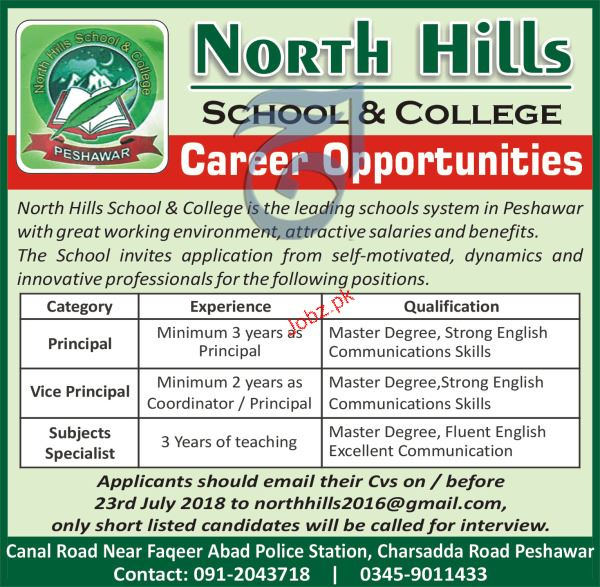 North Hills Schools and College Subject Specialists Jobs