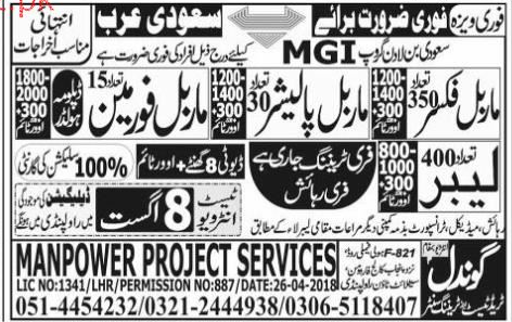 Marble Fixers, Marble Polishers, Marble Foreman Wanted