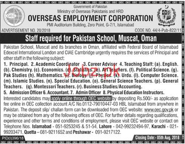 Overseas Employment Corporation OEC Management Jobs