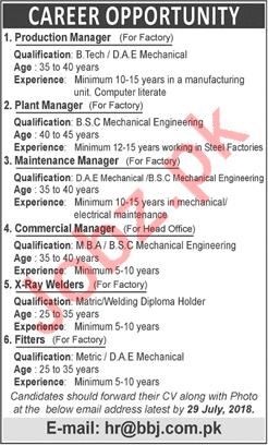 BBJ Pipe Industries Limited Jobs