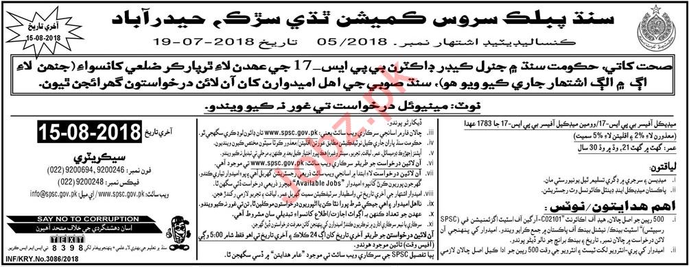 Sindh Public Service Commission SPSC Karachi Jobs 2018