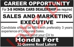 Sales and Marketing Executives for Honda Fort