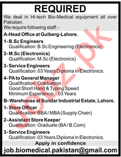 Engineers and General Managers required