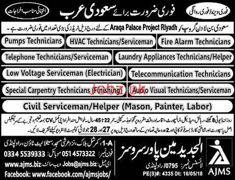 Fire Alaram Technicians, DCP Operators Job Opportunity