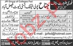 Jinnah Polytechnic Institute Jobs