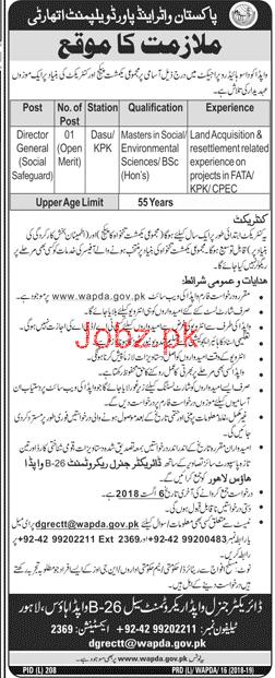 Pakistan Water & Power Development Authority WAPDA Job Open