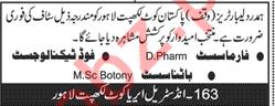 Hamdard Laboratories Lahore Pharmacist Jobs 2018