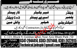 Welders, Fabricators, carpenters Job Opportunity